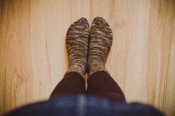 sock knitting. tidytipsy
