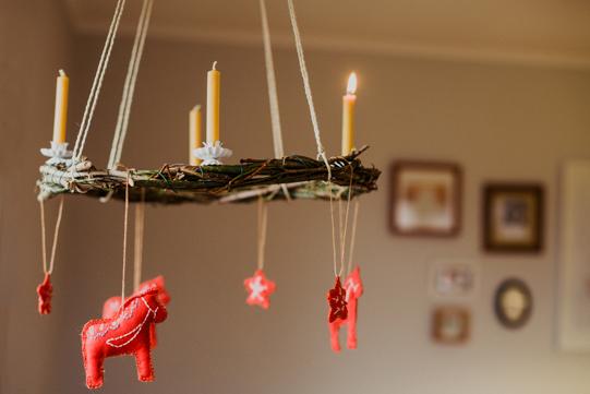 handmade advent wreath. tidytipsy